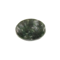 Seraphinite 16 x 12mm flat oval mossy green