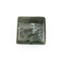 Seraphinite 16mm flat square mossy green