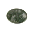 Seraphinite 20 x 15mm flat oval mossy green