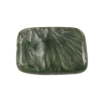 Seraphinite 25 x 18mm flat rectangle mossy green