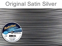 .019 (medium), 49 strand original satin silver Soft Flex Wire