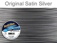 .019 (medium), 49 strand original satin silver Soft Flex Wire