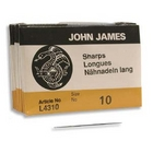 size 10 sharp short Beading Needles