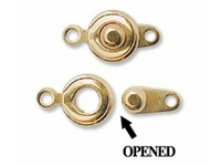 Image base metal 6mm ball and socket clasp gold finish
