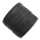 Image .5mm, extra-heavy #18 black Superlon bead cord