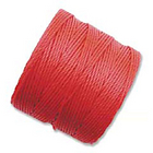 extra-heavy #18 bright coral Superlon bead cord