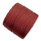 extra-heavy #18 dark red Superlon bead cord
