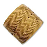 extra-heavy #18 gold Superlon bead cord