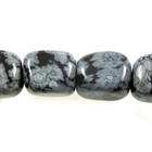 Snowflake Obsidian 8 x 10mm nugget black & grey