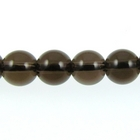 Smoky Quartz 6mm round smoky brown