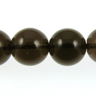 Smoky Quartz 10mm round smoky brown