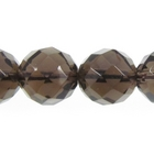 Smoky Quartz 10mm faceted round smoky brown