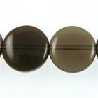 Smoky Quartz 12mm coin smoky brown