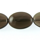 Smoky Quartz 13 x 18mm flat oval smoky brown