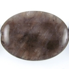 Smoky Quartz 30 x 40mm flat oval smoky brown