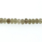 Smoky Quartz 4mm faceted rondell smoky brown