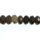 Smoky Quartz 8mm faceted rondell smoky brown