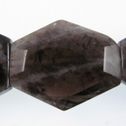 Smoky Quartz faceted hexagon smoky brown