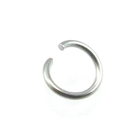 stainless steel 7mm open jumpring silver