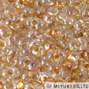 Seed Beads Miyuki berry 2.5 x 4.5mm sparkle honey beige color lined