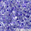 Seed Beads Miyuki berry 2.5 x 4.5mm sparkle purple color lined