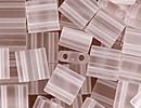 Seed Beads Miyuki tila 5x5x1.9 mm crystal transparent matte
