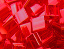 Seed Beads Miyuki tila 5x5x1.9 mm red orange transparent