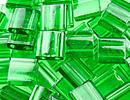 Seed Beads Miyuki tila 5x5x1.9 mm green transparent