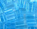 Seed Beads Miyuki tila 5x5x1.9 mm aqua transparent