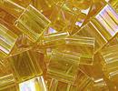 Image Seed Beads Miyuki tila 5x5x1.9 mm light topaz ab transparent iridescent