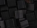 Seed Beads Miyuki tila 5x5x1.9 mm black opaque matte