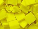 Image Seed Beads Miyuki tila 5x5x1.9 mm yellow opaque opaque