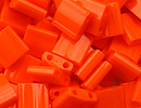 Seed Beads Miyuki tila 5x5x1.9 mm orange opaque opaque