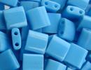 Seed Beads Miyuki tila 5x5x1.9 mm turquoise blue opaque opaque