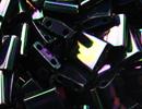 Image Seed Beads Miyuki tila 5x5x1.9 mm dark plum iris metallic