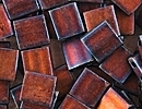 Seed Beads Miyuki tila 5x5x1.9 mm dark copper matte metallic
