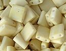 Image Seed Beads Miyuki tila 5x5x1.9 mm cream opaque matte
