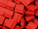 Seed Beads Miyuki tila 5x5x1.9 mm brick red matte metallic