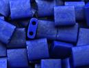 Seed Beads Miyuki tila 5x5x1.9 mm cobalt opaque matte luster