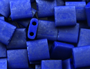 Image Seed Beads Miyuki tila 5x5x1.9 mm cobalt opaque matte luster