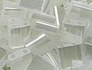 Image Seed Beads Miyuki tila 5x5x1.9 mm crystal silk satin