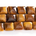 Tiger Eye 12mm square rich golden brown