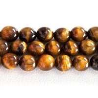 Tiger Eye 6mm round rich golden brown