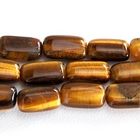 Tiger Eye 8 x 14mm rectangle rich golden brown