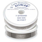 .022 (thick), 7 strand clear (grey) Tigertail (cable)