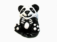 Image Clay Beads 11 x 9mm panda clay