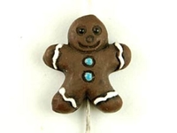 Clay Beads 8 x 12mm Christmas gingerbread boy clay