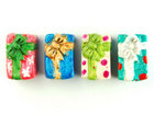 Image Clay Beads 13 x 8mm Christmas presents assorted colors clay