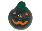 Image Clay Beads 13 x 11mm black jack o lantern clay