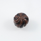 Clay Beads appx 10mm petit four chocolate clay